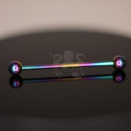 Barbell en titane implantable anodisé rainbow
