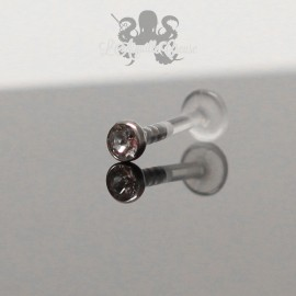 Zircon de 3 mm clipable & labret en bioplast