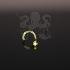 Stud Or 9 carats, orné d'un Saphir Jaune