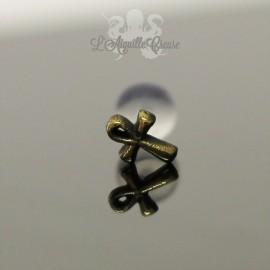 Accessoire en bronze Croix d'Ankh clipable