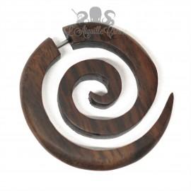 Boucle d'oreille en bois