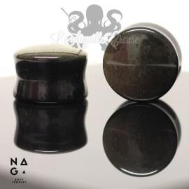 Paire de plugs en Golden Obsidian - NAGABodyJewelry