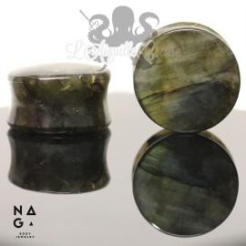 Paire de plugs en Labradorite - NAGABodyJewelry