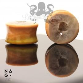 Paire de plugs en Geode d'agate - NAGABodyJewelry