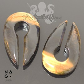 Paire de poids en Oeil de tigre - NAGABodyJewelry