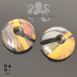 Paire de poids en Jaspe 'Rainbow' - NAGABodyJewelry