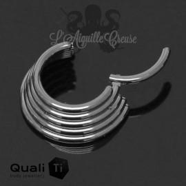Anneau segmenté en titane QualiTi , ouverture facile