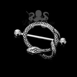 Bijou de téton Serpent en fonte d'acier