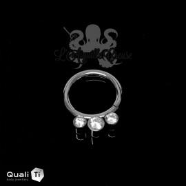 Anneau segmenté en titane QualiTi & zircons, ouverture facile