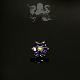 Fleur en Or 18 carats & Saphirs, pour bijou en 1 ou 1.2 mm