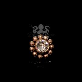 Cristal Swarovski en titane pvd or rose pour 1 ou 1.2 mm