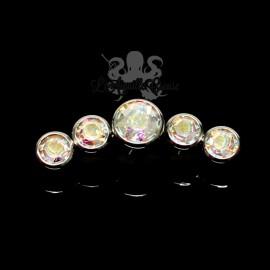 Cluster en titane orné de cristaux Swarovski pour 1 ou 1.2 mm