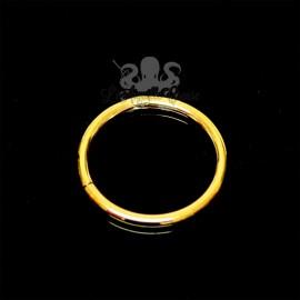 Anneau segmenté plaqué or, ouverture facile