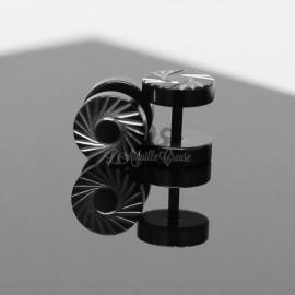 Faux Plug en acier 316L pvd noir