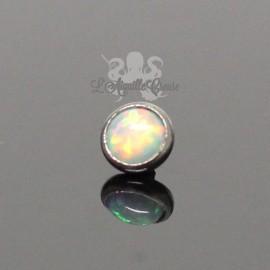 Accessoire pour bijou en 1.6 mm en acier chirurgical & opale synthétique - 4 mm