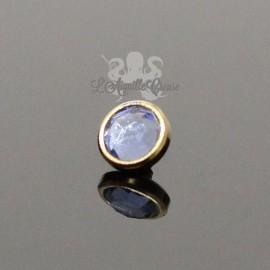Accessoire pour bijou en 1.6 mm en acier chirurgical pvd or & cristal Swarovski - 4 mm