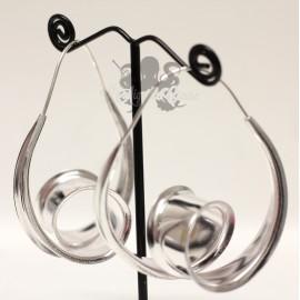 Paire de boucles d'oreilles plaqué Argent 925