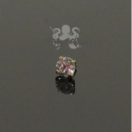 Zircon griffé d'Or 18 carats, pour bijou en 1 ou 1.2 mm