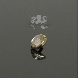 Cabochon d'Or 18 carats & zircon, pour bijou en 1 ou 1.2 mm