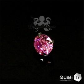 Accessoire QualiTi en titane & zircon de 5 mm, pour 1.6 mm