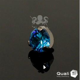 Accessoire QualiTi en titane & zircon de 6 mm, pour 1.6 mm