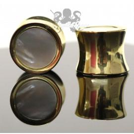 Plug en bronze & nacre