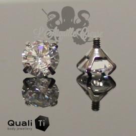 Accessoire QualiTi en titane & zircon de 4 mm, pour 1.6 mm