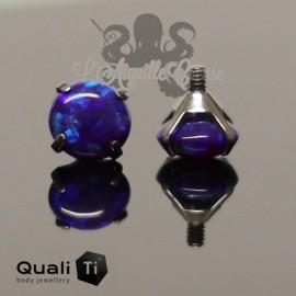 Opale synthétique griffé de 5 mm QualiTi en titane - pour 1.6 mm