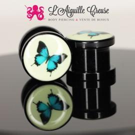 Plug papillon en acrylique