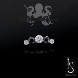 Accessoire en titane & cristaux Swarovski IS pour 1 ou 1.2 mm