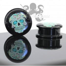 Plug Calavera en acrylique