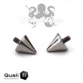 Accessoire Spike QualiTi en titane de 3 mm, pour 1.2 mm
