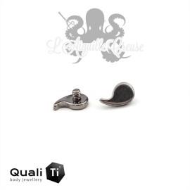 Accessoire QualiTi Virgule en titane - pour 1.6 mm