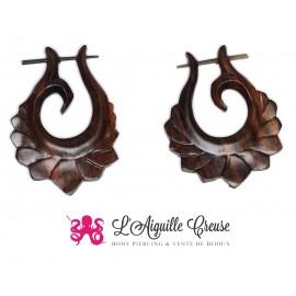 Paire de boucles d'oreilles en bois