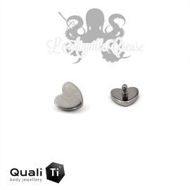 Accessoire QualiTi Coeur en titane - pour 1.6 mm