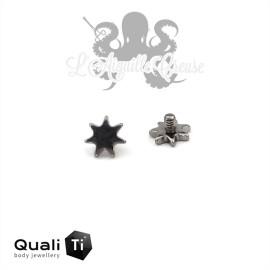 Accessoire QualiTi 'poussière d'étoile' en titane - pour 1.6 mm
