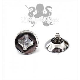 Accessoire pour bijou en 1.6 mm en acier chirurgical Vis