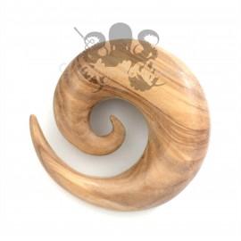 Spirale en bois d'Olivier