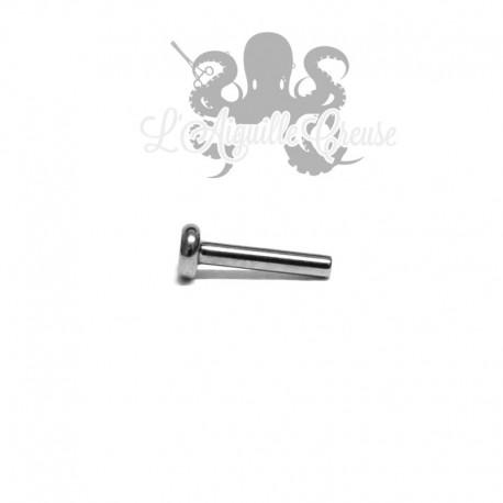 Barre de Labret titane 1.2mm pas de vis interne