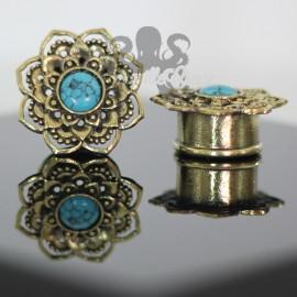Plug en Bronze & Turquoise
