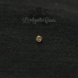 Or 18 carats & zircon, pour bijou en 1 ou 1.2 mm