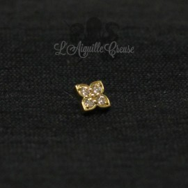 Accessoire en Or 18 carats & zircon Swarovski, pour bijou en 1 ou 1.2 mm
