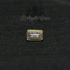 Zircon rectangulaire Swarovski et Or 18 carats, pour bijou en 1 ou 1.2 mm