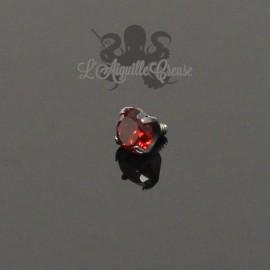 Zircon Rouge en titane - pour 1.2 mm