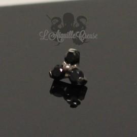 Trio de cristaux Swarovski en titane - pour 1.2 mm