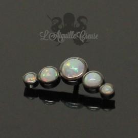 Cluster d'opales synthétiques en titane - pour 1.2 mm