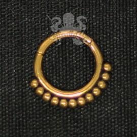 Anneau plaqué or segmenté tribal, ouverture facile