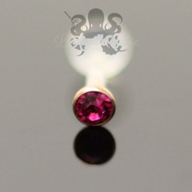 Zircon clipable pvd or rose & labret en bioplast