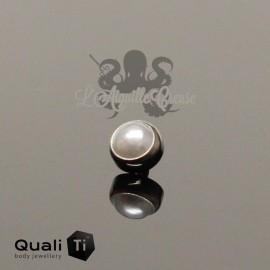 Cabochon de perle synthétique QualiTi en titane - pour 1.2 mm