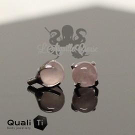 Accessoire QualiTi en titane & quartz rose de 3 mm , pour 1.2 mm